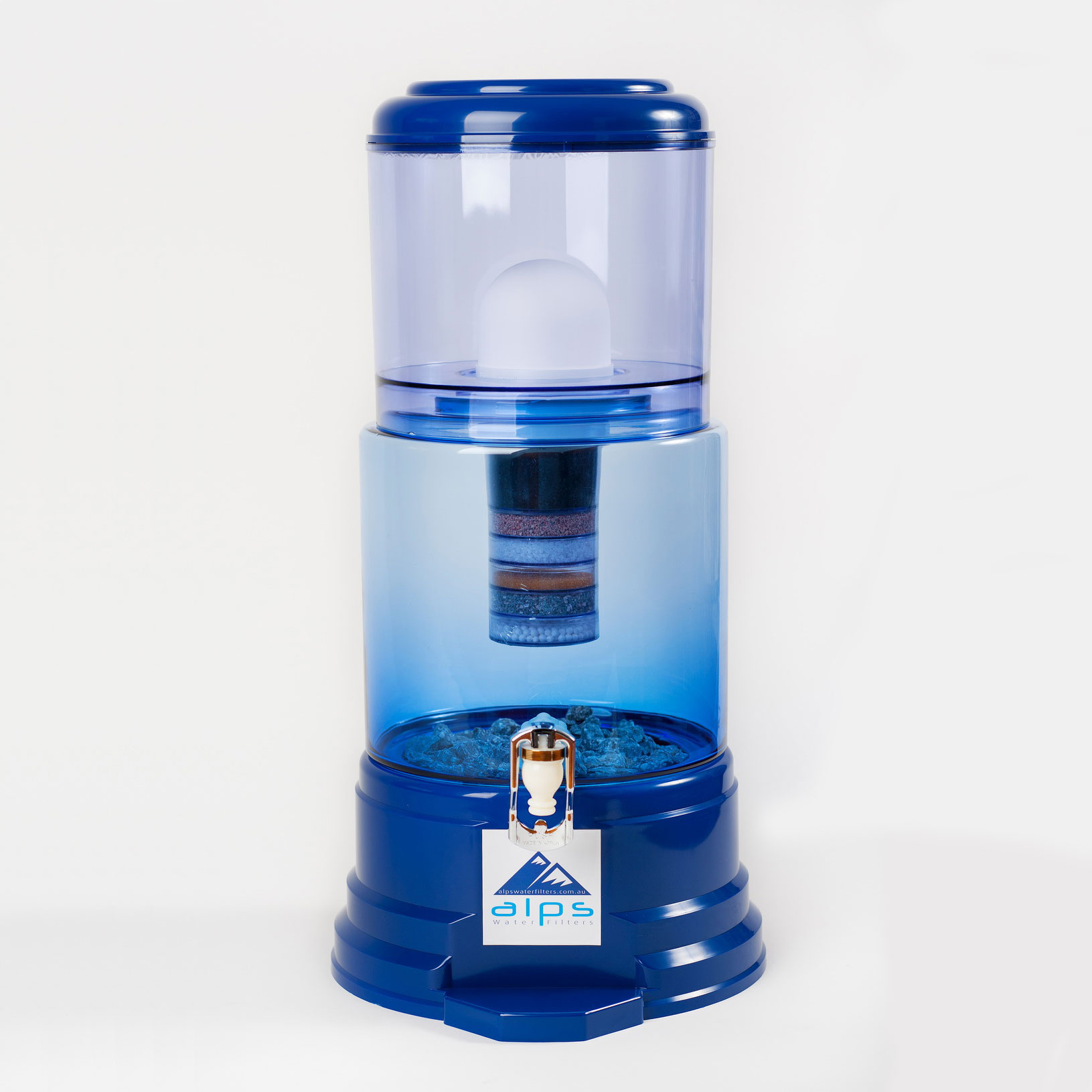 Alps Water Filters 18 Litre Glass Blue Alps Water Filters